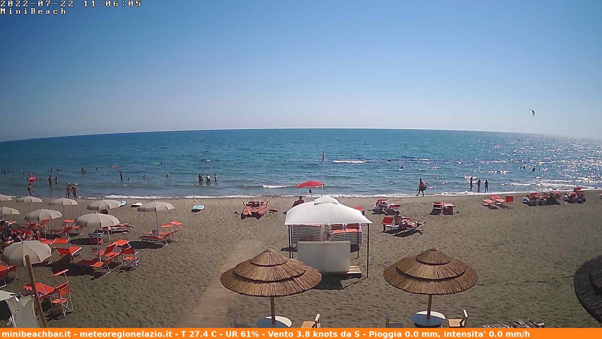 Webcam Ladispoli, Marina di San Nicola - Meteo Lazio